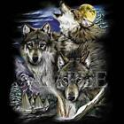 Wolf & Village Wildlife Animal Hunting Wolves Hot New Style T-Shirt SM To 5XL