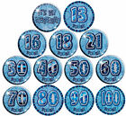 Blue Glitz Big Badge 15cm - 13 Designs To Choose - Metallic Party