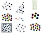 Wiggle Eyes 25 Count Many Sizes and Colors! Googly Craft Eyes Kids Fun ABCraft