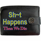 Slogan Text Speak Talk Mens Leather Wallet Funny Dad gift Novelty Joke Comical
