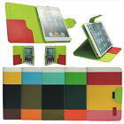 USA New Hybrid PU Leather Wallet Flip Pouch Stand Case Cover For Apple iPad Mini