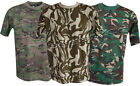 New Mens Military Camouflage Camo T Shirt Army Combat S - 3XL