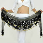 Sexy Belly Dance Hip Scarf Belt Pallet Gold & Silver 20 Color Options Low Price!