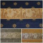 TRADITIONAL CHENILLE EMBRIODERED ROMAN TAPESTRY SILK UPHOLSTERY CURTAIN FABRIC