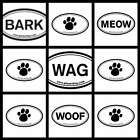 Euro Sticker Planet Dog: Bark, Meow, Wag Stickers Choose Your Favorite