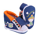 Guess Boys Denim Hi Top Trainers Orange Shoes Elastic Laces Foresters Boots