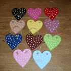 Handmade Wooden Hanging Hearts. Polkadot. 11 Colours. 7cm High. Home Decoration