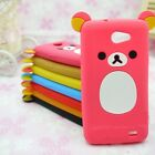 Lovely Cute Relax Teddy Bear Silicone Cover Case For Samsung Galaxy Mobile Phone