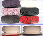 (C12)Round shape Rose Design Hard Case for Reading Glasses/ 6 Different Colours
