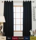 Antique Brass Grommet Top Thermal Insulated Blackout Curtain 74 Inch Length Pair