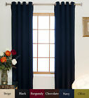 Nickel Grommet Top Insulated Blackout Curtain 64 Inch Length Pair,