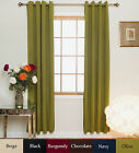 Nickel Grommet Top Insulated Blackout Curtain 74 Inch Length Pair,