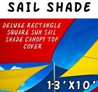 New 13'x10' Deluxe Rectangle Square Sun Sail Shade Canopy Top Cover