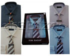 Check Mens Boxed Shirt And Tie Set  Office Formal Businessman Style By Tom Hagan