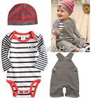 Baby Boy Overalls Boys Infant Months Size Pants Hat 3 PCS boy overall