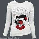 NEW W/ TAGS WOMENS STEADFAST MB DEAD WED LONG SLEEVE THERMAL WHITE SMALL-XLARGE