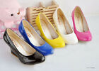 NEW Design Lady Women's Wedge Candy Color High Heels Pumps Shoes US All Sz Z062