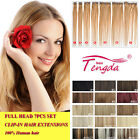 Clip In Remy Human Hair Extensions Full Head Set ANY COLOUR 14''-30''