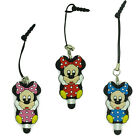 3D Minnie Mouse Anti Dust Earphone Plug + Stylus Touch Pen For Apple/Samsung/HTC