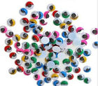 100X 8mm Mix Color Plastic Wiggles Eye Glue On Eyelash Movable Bear Doll Make