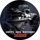 """Call of Duty Black Ops GHOSTS 7.5"""" ROUND Cake Topper Rice Paper/Icing 24HR POST!"""