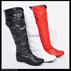 Women's Low Heel Boots Lovely Bowknot Knee High Shoes US All Sz Y802