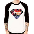 Diamond-Galaxy COSMIC space stellar Mars Baseball t-shirt 3/4 sleeve Raglan Tee