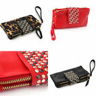 Fashion Women's Evening Party Bag Handbag Rivet Tote PU Leather Purse Wallet