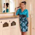 RRP £59 New Ladies Womens Wedding Party Floral Evening Sexy Tea Bridesmaid Dress