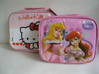 CHILDRENS/ GIRLS HELLO KITTY DISNEY PRINCESS LUNCH BAG WITH LUNCH BOX AND BOTTLE