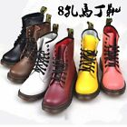 Womens Lace Up Punk Rock Motorcycle Low Heel Military Combat Boots