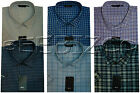 New Mens King Size Short Sleeve Casual/Formal Check Shirt 3XL to 5XL