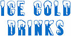 4x Ice Cold Drinks, Catering/Burger Trailer Stickers/Vinyl Decal, Ice Cream Van