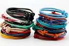 One Handcrafted Genuine Leather Cord Adjustable Knot Bracelet for Men or Women