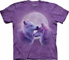 Loving Wolves Adult  Animals Unisex T Shirt The Mountain