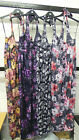 *NEW* WOMEN LADIES BIG PLUS SIZE FLOWER PRINT HALTERNECK MAXI DRESS FULL LENGTH