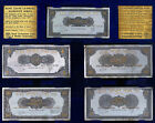 Bank Leumi Le Israel 1952 Series Banknotes - 5 Rectangle Silver Medals 110x55mm