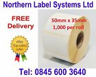 50mm x 35mm WHITE Direct Thermal Labels for Zebra, Citizen, Godex, Toshiba etc