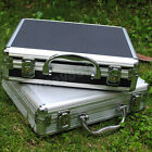 Aluminium Hard Rifle Gun Case Padded Foam Shooting Metal Box Silver and Black