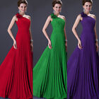 Pleated Bridesmaid Bridal Evening Formal Party Cocktail Ballgown Prom Long Dress
