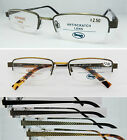 L481 Superb Quality Semi Rimless Metal Reading Glasses/Spring Hinges+100+150+200