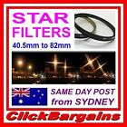 STAR 4 6 or 8 POINT CAMERA LENS FILTER for CANON NIKON FUJIFILM OLYMPUS SONY etc