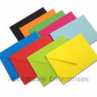 """25 5"""" x 7"""" Coloured Envelopes for Greeting Cards 100gsm ALL COLOURS"""