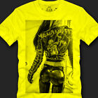 """mens/teens yellow """"MEGADEATH WOMAN"""" graphic t-shirts and tees,size S,M,L,XL,2XL"""
