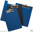 1 x A5 FOLD OVER CLIPBOARD PVC COVERED HARD BACK PLASTIC WITH METAL CLIP HANGING