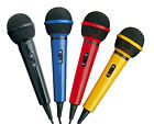 Mr Entertainer Home Party DJ Karaoke Singing Mic Microphone In 4 Fun Colours