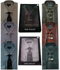 Stripe Boxed Shirt And Tie Set  Office Formal Businessman Style By Tom Hagan