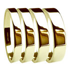 9ct Yellow Gold Flat Profile Wedding Rings UK HM Heavy Band 2.5, 3, 4, 5, 6, 8mm
