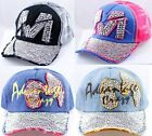 1 Pack Women's Men's Rhinestone Baseball Cap Curved Snapback Adjustable Hat