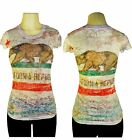 California Republic WOMENS All Over Sublimation Print Women's Short Sleeve